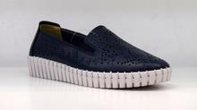 Дамски обувки ЕСТЕСТВЕНА КОЖА - JADA - тъмно сини