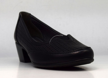 Комфортни дамски обувки на ток - KATIE - черни