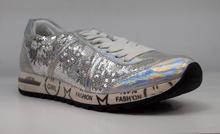 Дамски маратонки с пайети - EVA  - сребристи