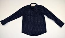 Спортно - елегантна риза с дълъг ръкав - BOSS - тъмно синя от 6 до 8 г.