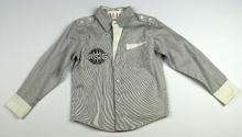 Спортно - елегантна риза с дълъг ръкав - BOYS 6 - сива за 6 г.