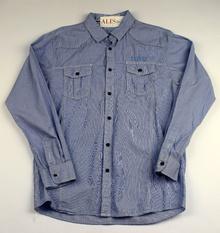 Спортно - елегантна риза с дълъг ръкав - G STORY - синя за 14 г.