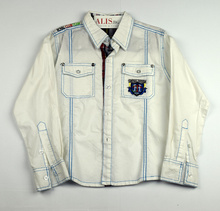 Спортно - елегантна риза с дълъг ръкав - ROYAL CLUB TEAM - бяла за 8 г.