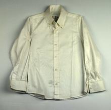 Елегантна риза с дълъг ръкав - WOORAGE - бяла от 3 до 6 г.