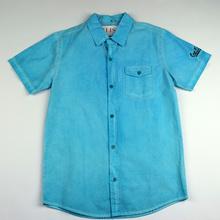 Спортно - елегантна риза с къс ръкав - FASHION COLLECTION - светло синя за 16 годишни