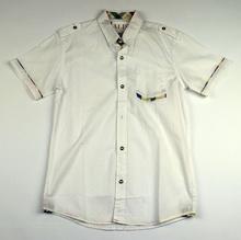 Спортно - елегантна риза с къс ръкав - BOY STYLE - бяла за 16 годишни
