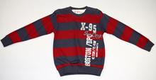 Памучна блузка с дълъг ръкав за момче - X - 95 - червена за 5 годишни