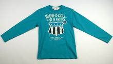 Детска блуза с дълъг ръкав за момче - WANEX - синя за 7 и 10 годишни