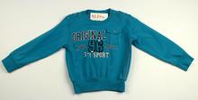 Детска блуза с дълъг ръкав за момче - NOA - синя за 4 годишни