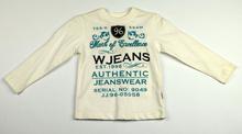 Детска блуза с дълъг ръкав за момче - WANEX - бяла за 1/1.5 г.