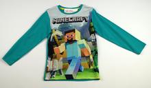 Детска блуза с дълъг ръкав за момче - MINECRAFT - зелена за 4 годишни