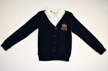 Детска блуза с дълъг ръкав за момче -SEBASTIAN - тъмно синя за 6 годишни