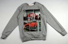 Юношеска блуза с дълъг ръкав за момчета - RED STYLE - сива за 13 годишни