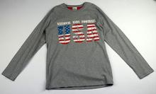 Юношеска блуза с дълъг ръкав за момчета - USA - сива за 16 годишни