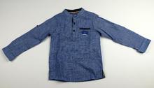 Детска блузка тип риза - JUNIOR LAND - синя от 3 до 12 годишни