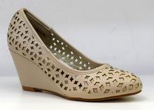 Елегантни дамски обувки на платформа НОВ МОДЕЛ - ALAIRA - бежови