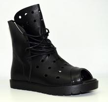 Модни дамски летни боти - ALENA - черни