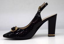 дамски кожени обувки на висок ток