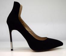 дамски велурени обувки на висок ток