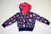 Пролетно - есенно детско яке с две лица - тъмно синьо и розово от 4 до 10 г.