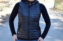 Дамска спортна грейка с две лица - AVA - черна/бордо