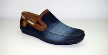 Мъжки дънкови обувки ЕСТЕСТВЕНА КОЖА И ТЕКСТИЛ - сини