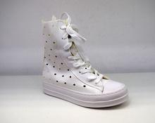 Модни летни дамски ботуши - ABBI - бели