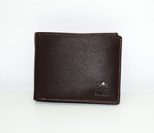 Мъжки портфейл ЕСТЕСТВЕНА КОЖА  - тъмно кафяв