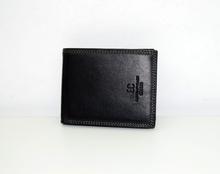 Мъжки портфейл ЕСТЕСТВЕНА КОЖА - ЕС - черен