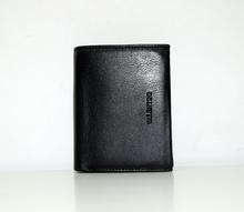 Мъжки портфейл ЕСТЕСТВЕНА КОЖА - JOHN - черен