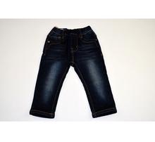 Детски дънки - FASHION JEANS - тъмно сини с топла памучна подплата от 1 до 12 г.