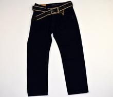 Детски панталон за момчета - JSJ KIDS - тъмно син с колан за 6 годишни