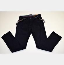 Модни панталони с тиранти за момче - ANGEL - черни за 10 годищни
