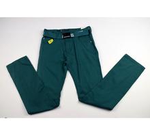 Модни юношески панталони - BOY - синьо-зелени с колан 10/16 години