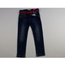 Юношески дънки за момичета - ALISEA - сини с колан - плитка от 6 до 14 годишни