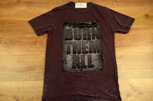 Модна мъжка тениска - MARK - тъмно лилав меланж до 5 XL