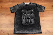 Модна мъжка тениска - MARK- тъмно сива до 6XL