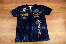 Свежа мъжка тениска - MONTE CARLO - тъмно синя до 4XL