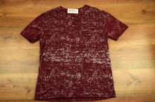 Мъжка тениска - ELIJAH - бордо до 5XL