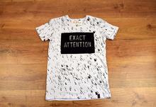 Мъжка тениска с ефектен надпис- MIGUEL - в черно и в бяло