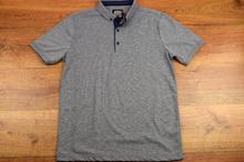 Модна мъжка тениска - SETH - сива с яка и копчета