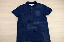 Мъжка тениска - KEVIN - тъмно синя с джоб