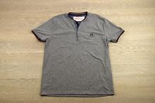 Мъжка тениска - ALL - тъмно синя с копчета