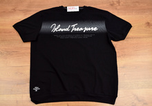 Модна мъжка тениска - STEVEN - черна до 5XL