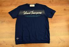 Модна мъжка тениска -STEVEN - тъмно синя до 5 XL