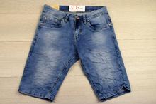 Модни къси мъжки дънки -DANIELLE- светло сини