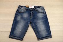 Класически мъжки къси дънки - JACOB - тъмно сини/ големи размери