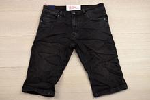 Модни къси мъжки дънки - AARON - черни