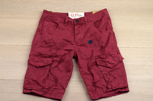 Модни къси мъжки панталони - ANDREW - бордо