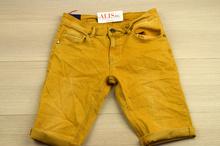 Модни мъжки къси панталони - AADAN - горчица